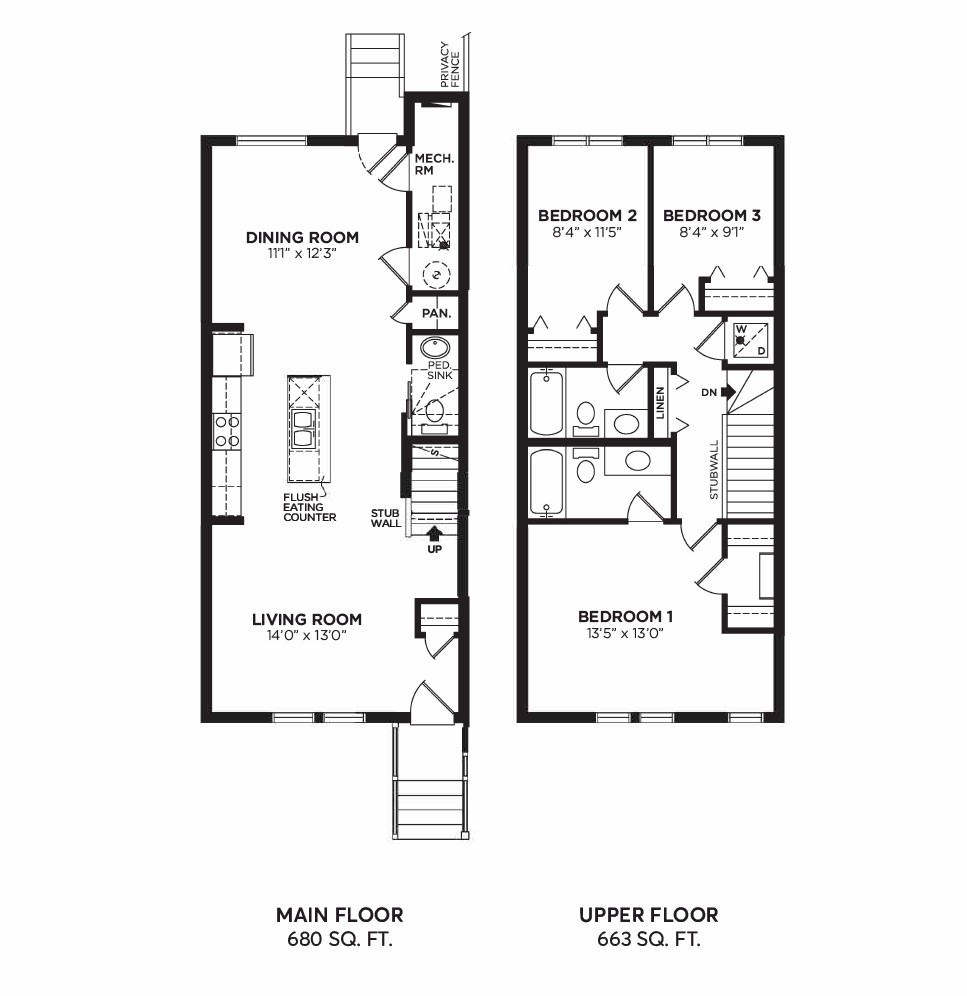 Floorplan H - 3 Bedrooms