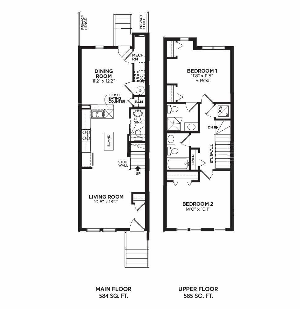 Floorplan G - 2 Bedrooms