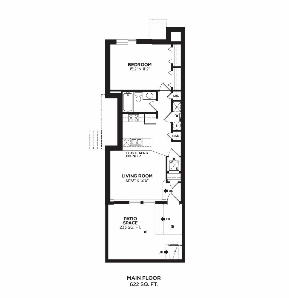 Floorplan F3 - 1 Bedroom