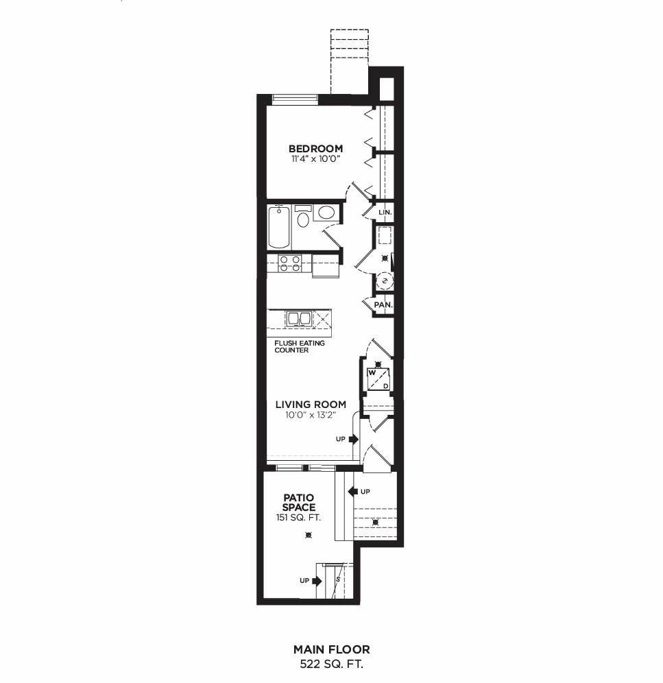 Floorplan F2 - 1 Bedroom