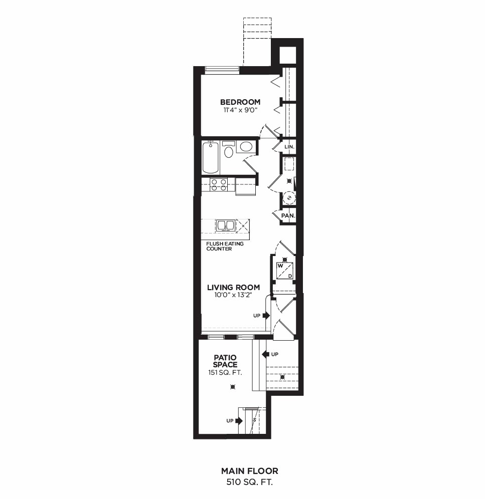 Floorplan F1 - 1 Bedroom
