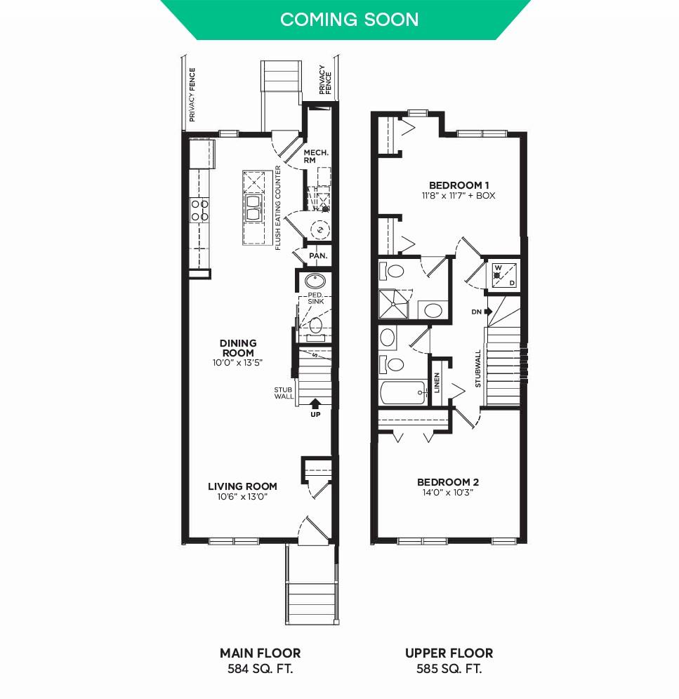 Floorplan E2 - 2 Bedrooms